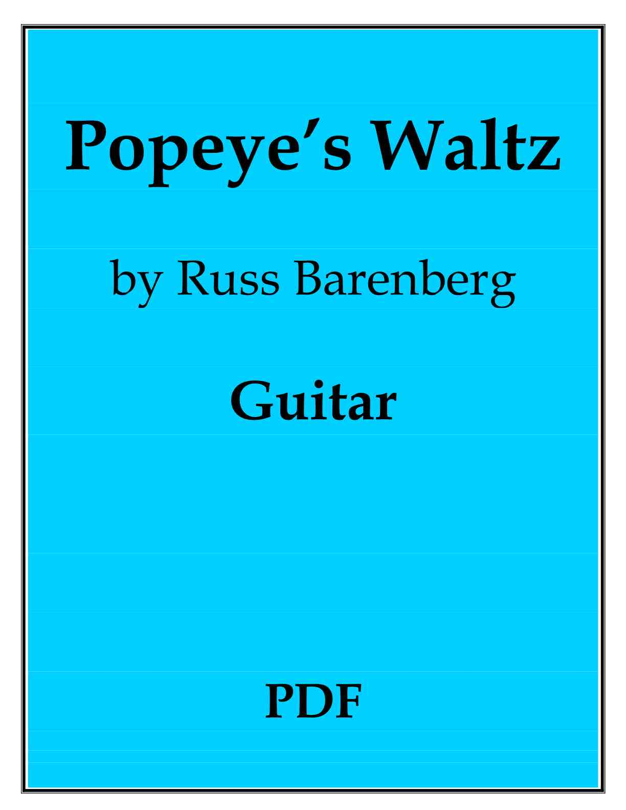 Lerner - I'm Popeye The Sailor Man sheet music for voice ... |Popeye Guitar